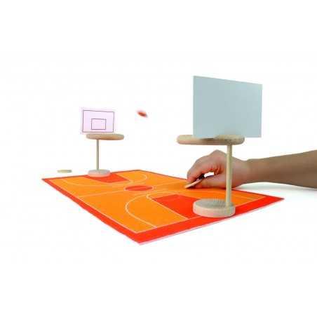 JUMP BASKET gioco delle pulci in legno Milaniwood pallacanestro made in Italy MILANIWOOD - 1