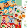 MEMO LOTO SHOP memory NEGOZIO tombola DJECO in legno 24 PEZZI animali GIOCO età 3+ Djeco - 1