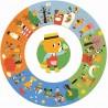 PUZZLE GIGANTE 24 pezzi UN ANNO E LE SUE STAGIONI in cartone robusto DJECO età 3+ Djeco - 1