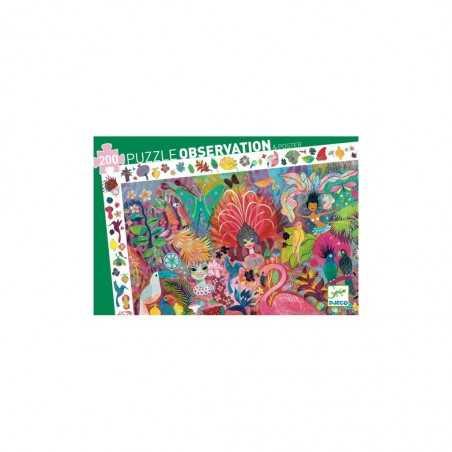 PUZZLE observation CARNEVALE DI RIO 200 pezzi CARNAVAL in cartone robusto DJECO colori DJ07452 età 6+ Djeco - 1