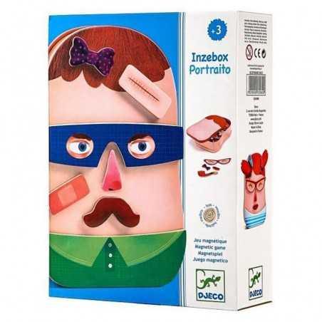 PORTRAITO gioco magnetico INZEBOX puzzle 38 PEZZI in metallo DJECO calamite in legno DJ03080 età 3+ Djeco - 1