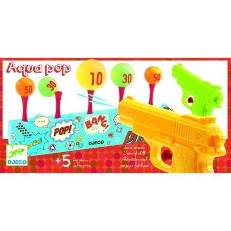 AQUA POP gioco di abilità TIRO A SEGNO 2 pistole ad acqua DJECO bersaglio DJ02048 età 5+ Djeco - 1
