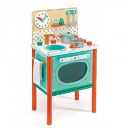 LA CUCINA DI LEO in legno DJECO gioco di imitazione DJ06626 colorata ACCESSORIATA età 3+ Djeco - 1