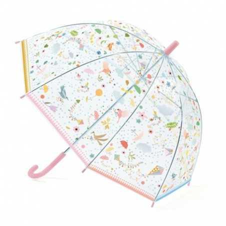 OMBRELLO trasparente PICCOLE LEGGEREZZE anti pioggia DJECO gioco di imitazione DJ04805 ROSA età 3+ Djeco - 1