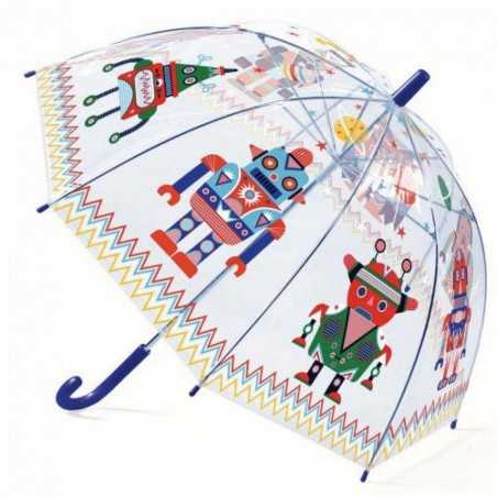 OMBRELLO trasparente ROBOTS anti pioggia DJECO gioco di imitazione DJ04806 BLU età 3+ Djeco - 1
