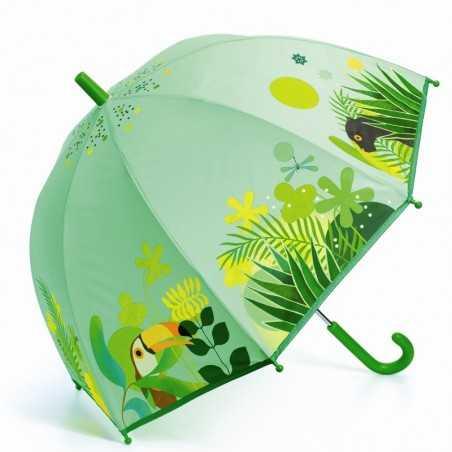 OMBRELLO per bambini GIUNGLA TROPICALE anti pioggia DJECO gioco di imitazione DJ04702 jungle VERDE età 3+ Djeco - 1