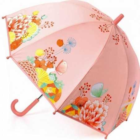 OMBRELLO per bambini GIARDINO DEI FIORI anti pioggia DJECO gioco di imitazione DJ04701 ocean ROSA età 3+ Djeco - 1