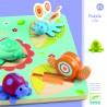 PUZZLE LILO gioco in legno 5 INCASTRI animali DJECO pratica confezione DJ01031 età 12 mesi + Djeco - 1