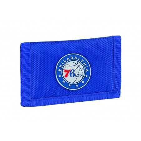 PORTAFOGLI panini PHILADELPHIA 76ERS portafoglio NBA basket 2019-2020 originale BLU con velcro Franco Panini Ragazzi - 1