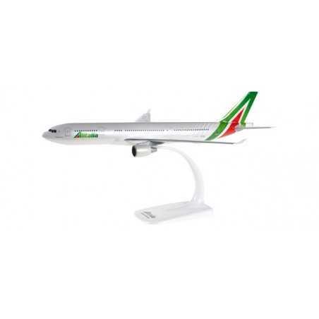 ALITALIA AIRBUS A330-200 aereo in plastica 610933 modellino HERPA SNAP FIT scala 1:200 Herpa - 1