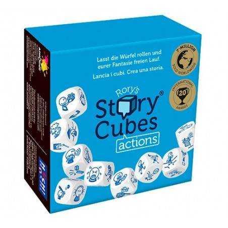 STORY CUBES AZIONI Actions Blu RORY'S gioco di dadi canta storie RACCONTA FAVOLE età 6+ Asmodee - 1