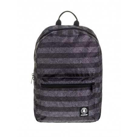 ZAINO PACKABLE backpack INVICTA morbido NERO richiudibile STRIPES TEXTURE cartella Invicta - 1