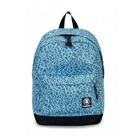 ZAINO CARLSON backpack INVICTA classico AZZURRO cartella DOODLE 27 litri Invicta - 1