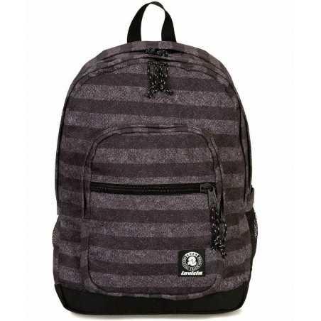 ZAINO JELEK backpack INVICTA doppio FANTASY cartella STRIPES TEXTURE 38 litri NERO Invicta - 1