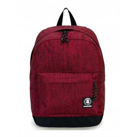 ZAINO CARLSON 2 TONE backpack INVICTA classico BURGUNDY cartella ROSSO 27 litri Invicta - 1