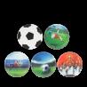 SET KLETTIES SPECIAL per il tuo zaino CALCIO Ergobag patelle intercambiabili 5 PEZZI FOOTBALL Ergobag - 1