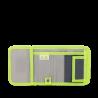 Portafogli Phantom Grey Green WALLET chiusura in velcro porta monete SATCH ecologico Satch - 2