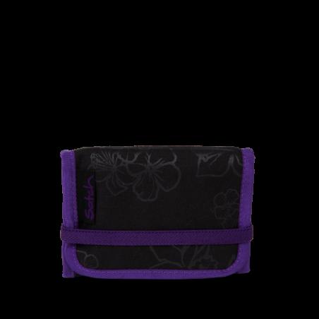 Portafogli Purple Hibiscus WALLET chiusura in velcro porta monete SATCH ecologico Satch - 1