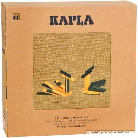 KAPLA COLOR 40 pezzi colore giallo verde + LIBRO con spunti creativi Kapla - 1
