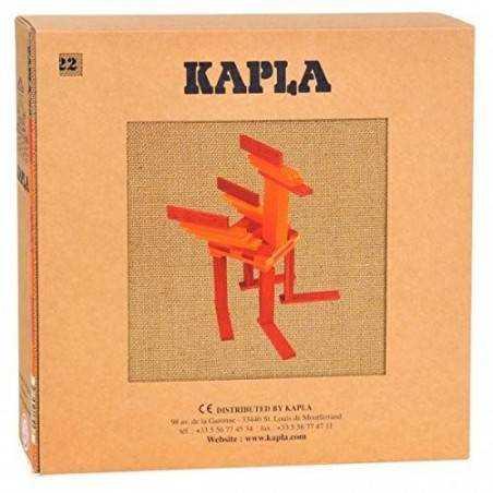 KAPLA COLOR 40 pz colore rosso arancio + LIBRO Kapla - 1