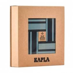 KAPLA COLOR 40 pezzi colore blu celeste + LIBRO con spunti creativi Kapla - 1