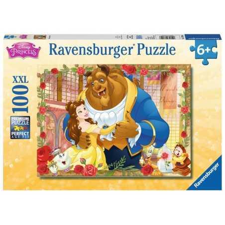 PUZZLE 100XXL ravensburger LA BELLA E LA BESTIA disney princess PREMIUM 49 x 36 cm 13704 età 6+ Ravensburger - 1