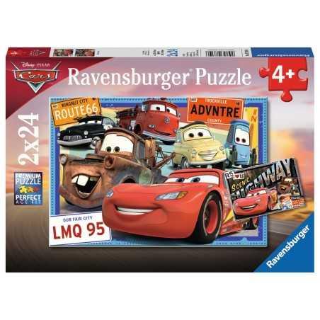 2 PUZZLE DA 24 PEZZI ravensburger CARS disney pixar 2 x 24 cod 07819 età 4+ Ravensburger - 1