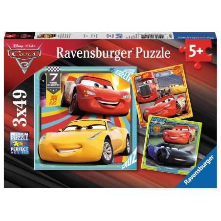 3 PUZZLE DA 49 PEZZI ravensburger CARS 3 disney pixar 3 x 49 le leggende della pista 08015 età 5+ Ravensburger - 1