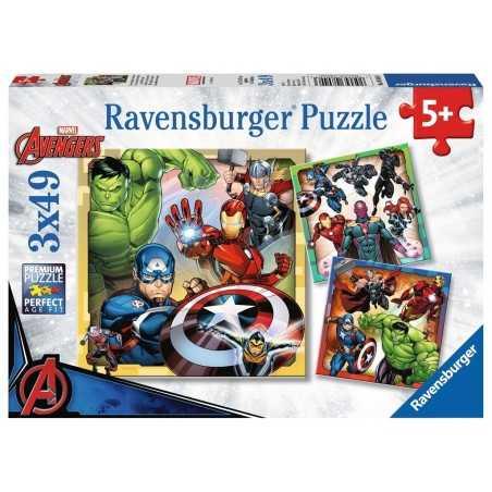 3 PUZZLE DA 49 PEZZI ravensburger I POTENTI AVENGERS marvel 3 x 49 avenger 08040 età 5+ Ravensburger - 1