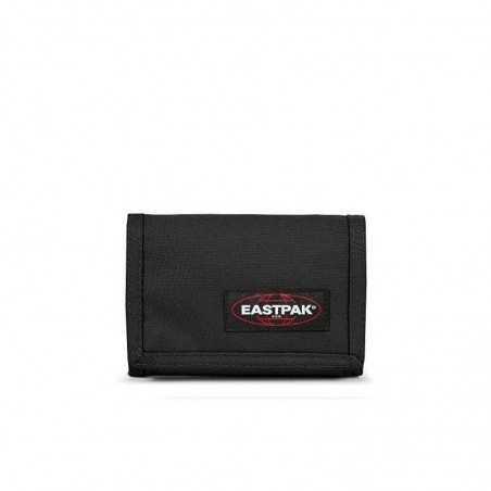PORTAFOGLI eastpak CREW SINGLE nero BLACK zip EK371 classico 008 velcro EASTPAK - 1