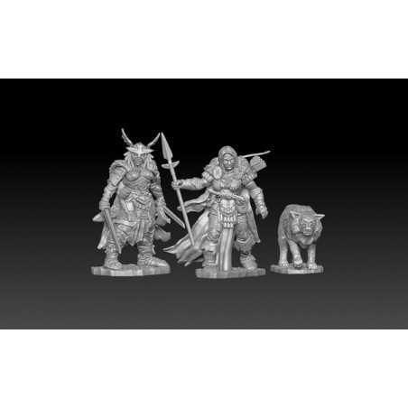 BONES IV 4 FROST GIANT RAIDERS Reaper miniature in plastica Kickstarter limited edition Reaper Miniatures - 1