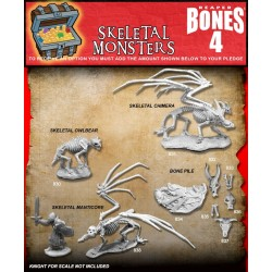 BONES IV 4 SKELETAL MONSTERS Reaper miniature in plastica Kickstarter limited edition Reaper Miniatures - 1
