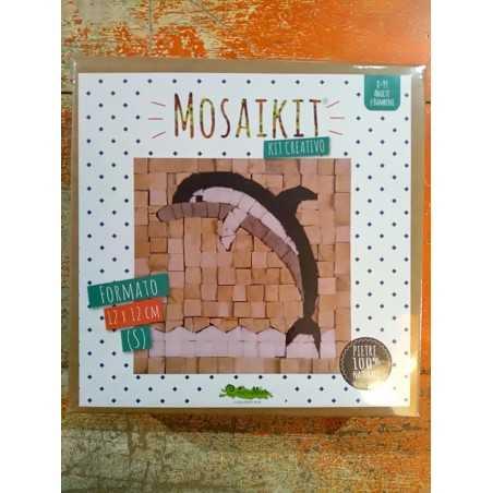 MOSAIKIT S small MOSAICO kit artistico 12X12CM DELFINO Creativamente 6+ Creativamente - 1