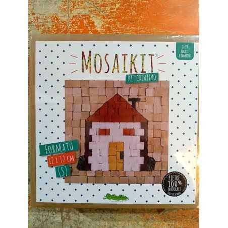 MOSAIKIT S small MOSAICO kit artistico 12X12CM CASA house Creativamente 6+ Creativamente - 1