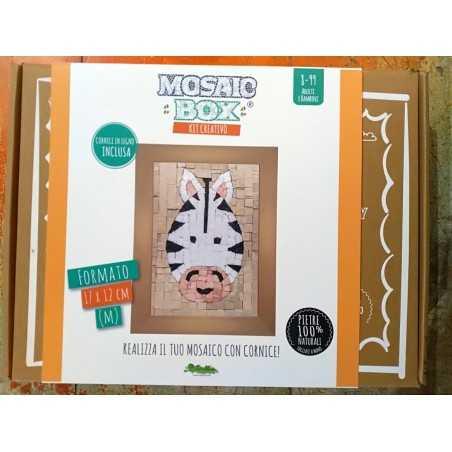 MOSAIC BOX M medium MOSAICO kit artistico 12X17CM ZEBRA Creativamente 6+ Creativamente - 1