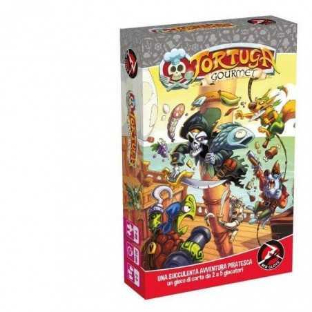 TORTUGA GOURMET in italiano RED GLOVE gioco di carte PIRATI speciale prima edizione 5 MEEPLE IN LEGNO età 7+ Red Glove - 1