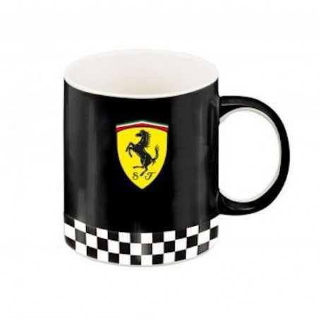 TAZZA mug FERRARI official licensed product NERO scuderie SI LAVASTOVIGLIE SI MICROONDE Franco Panini Ragazzi - 1