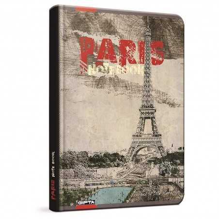 QUADERNO A4 a quadretti 5M PARIS PARIGI rosso brossura copertina rigida Notebook cm 30x22 Seven Metropol SEVEN - 1