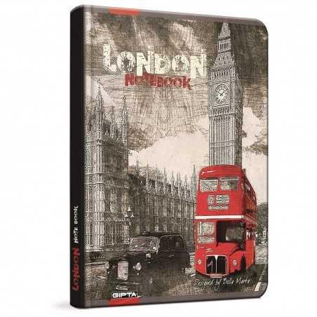 QUADERNO A4 a quadretti 5M LONDON Londra BUS brossura copertina rigida Notebook cm 30x22 Seven Metropol SEVEN - 1