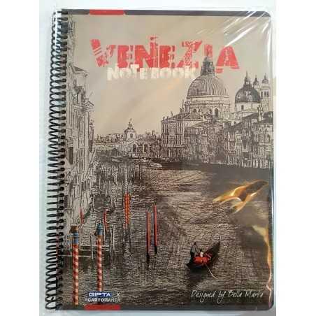 QUADERNO A4 a quadretti 5M VENEZIA brossura copertina rigida Notebook cm 30x22 Seven Metropol SEVEN - 1