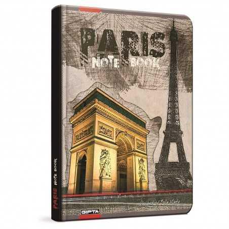 QUADERNO A5 a quadretti 5M PARIS PARIGI arco brossura copertina rigida Notebook cm 17x24 Seven Metropol SEVEN - 1