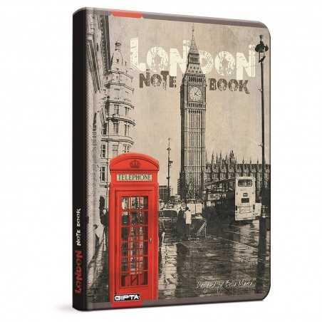 QUADERNO A5 a quadretti 5M LONDON LONDRA phone brossura copertina rigida Notebook cm 17x24 Seven Metropol SEVEN - 1