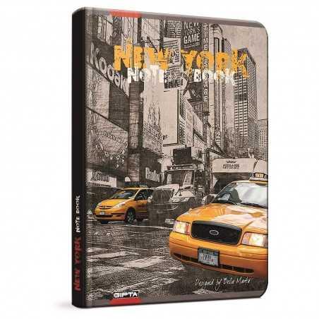 QUADERNO A5 a quadretti 5M NEW YORK brossura copertina rigida Notebook cm 17x24 Seven Metropol SEVEN - 1