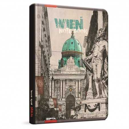 QUADERNO A5 a quadretti 5M WIEN Vienna brossura copertina rigida Notebook cm 17x24 Seven Metropol SEVEN - 1