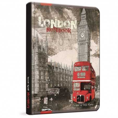 QUADERNO A5 a righe 1R LONDRA London BUS brossura copertina rigida Notebook cm 17x24 Seven Metropol SEVEN - 1