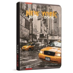 QUADERNO A5 a righe 1R NEW YORK brossura copertina rigida Notebook cm 17x24 Seven Metropol SEVEN - 1