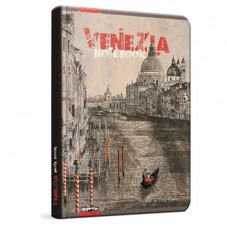 QUADERNO A5 a righe 1R VENEZIA brossura copertina rigida Notebook cm 17x24 Seven Metropol SEVEN - 1