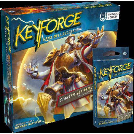 KEYFORGE era dell'ascensione STARTER SET in italiano con 2 MAZZI DECK GAME eda età 10+ Asmodee - 1