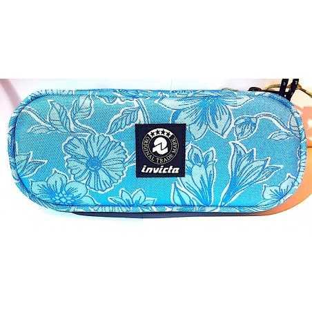 ASTUCCIO OVALE lip pencil bag INVICTA fantasy SCHOOL portapenne AZZURRO oval INTERNO ATTREZZATO Invicta - 1