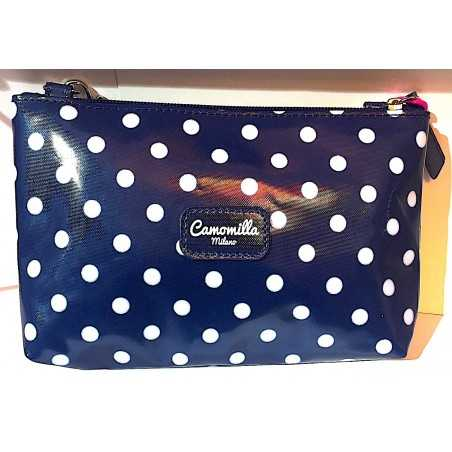 TRACOLLINA shoulder bag CAMOMILLA seven MILANO mini BLU con zip IRONICHE tracolla SEVEN - 1
